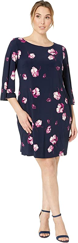 Plus Size Bazzy B758 Ombra Floral Day Dress