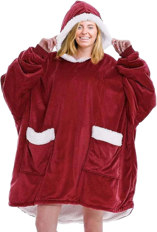 Hifuture Sweat-Shirt À Capuche Surdimensionné, Couverture À Capuche Confortable Et Chaude Super Douce, Sweat À Capuche Camouflage Rose