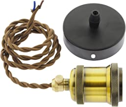 Retro, antiek, nostalgie - LED-bouwfitting gloeilampen, metalen fitting gloeilamphouder E27, hanglamp met Edison nostalgie...