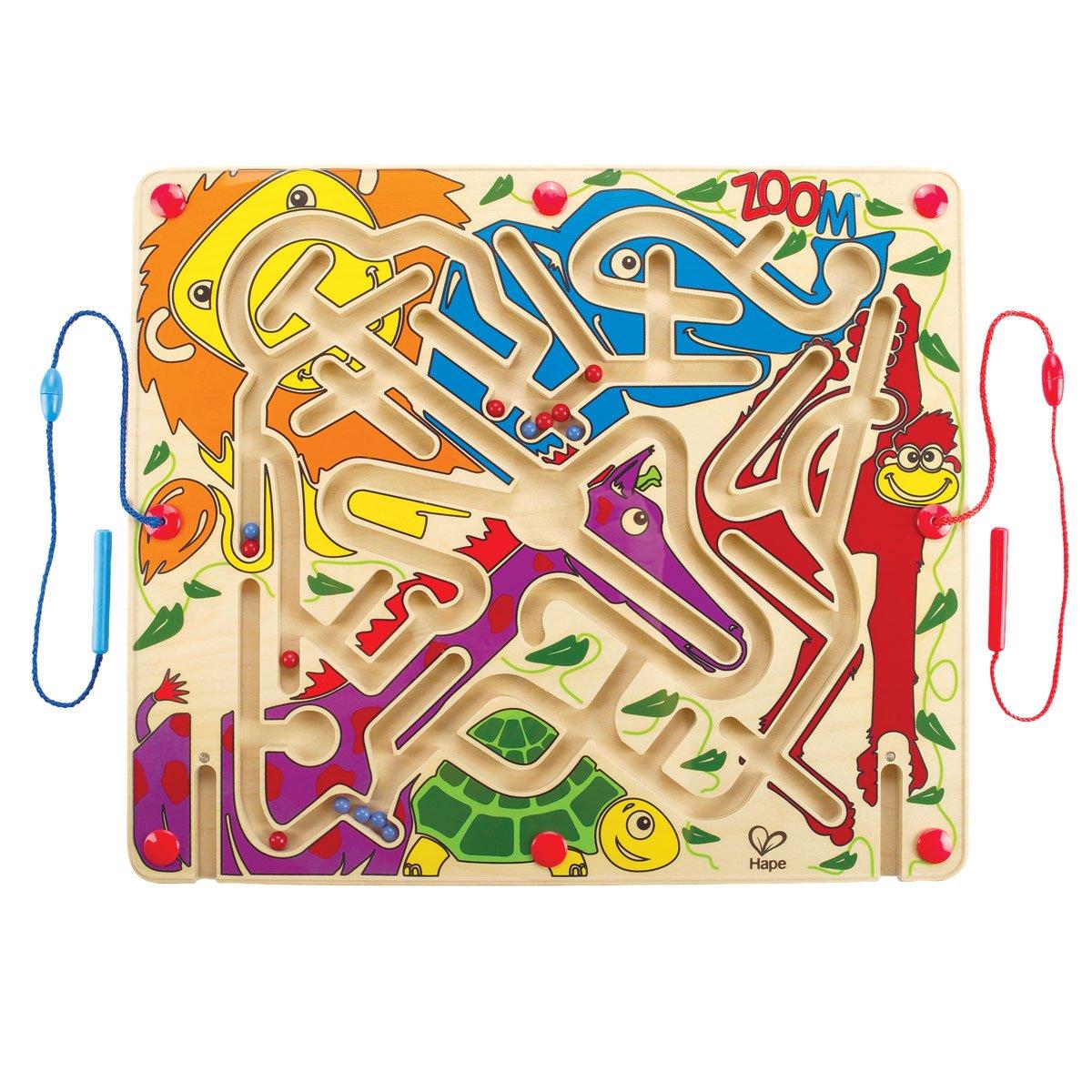 德国Hape 磁性运笔走珠 动物派对迷宫 2岁以上 E1706 早教木制儿童玩具 (国际直邮费包含了国际邮费和进口关税)