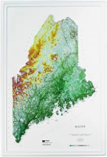 Hubbard Scientific Raised Relief Map 955 Maine State Map