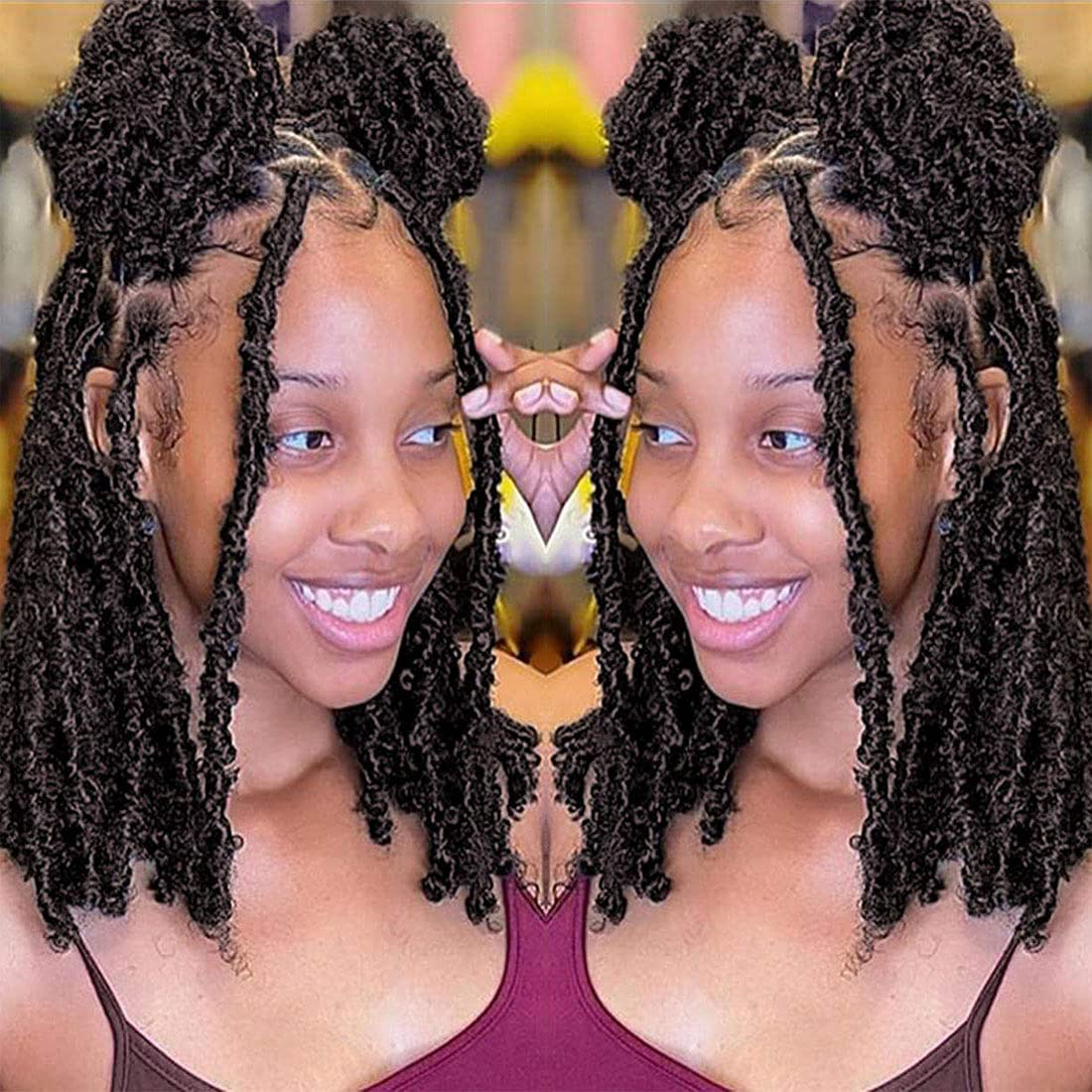 Free Shipping New Butterfly Locs Crochet Hair 12inch 6 Short Looped Packs 67% OFF of fixed price Dist Pre