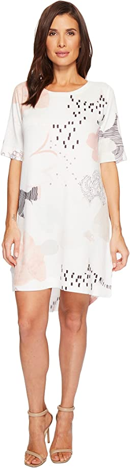 Nally & Millie - Peach Print Dress