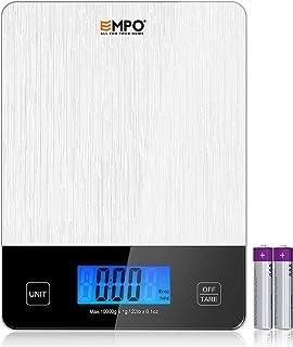EMPO Balance de Cuisine Numérique Professionnelle - Balance Digitale à Haute précision avec Grand écran LCD et Tare, fonct...
