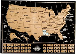 Best usa scratch off map Reviews