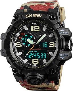 Mens Analog Digital LED 30M Waterproof Outdoor Sport Watch Military Multifunction Casual Dual Display 12H/24H Stopwatch Calendar Wrist Watch