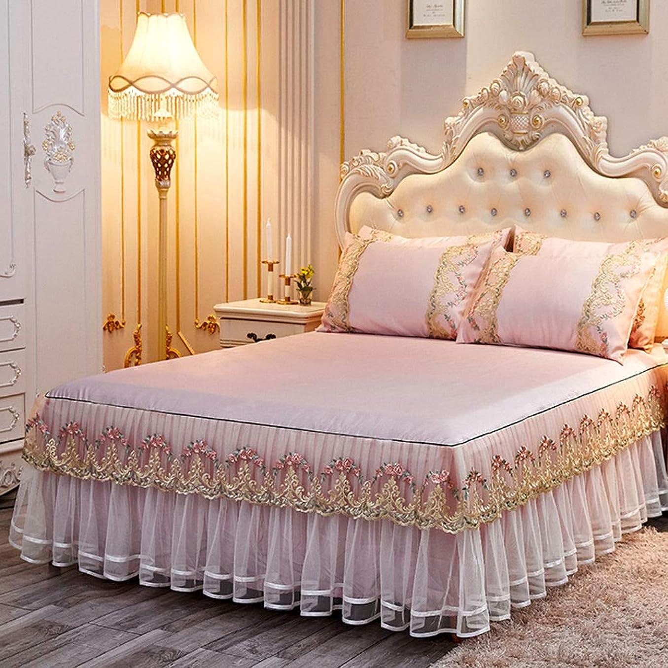 中止します海外レンジレース クール ベッド スカート,キルティング ウルトラ-柔らかい ベッドスプレッド カバーレット プリーツ ほこり ラッフル しわ そして フェード 抵抗力がある ドロップ ベッド スカート-翡翠-150×200センチメートル(59×79で)
