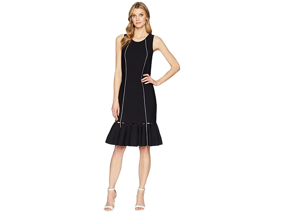 NIC+ZOE Tipped Trumpet Dress (Black Onyx) Women
