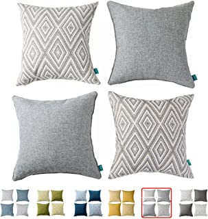 Best blue grey and white pillows Reviews