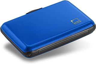 Lewis N. Clark Mini RFID Aluminum Wallet, Credit Holder, Business Card Metal ID Case for Men & Women, Blue, One Size