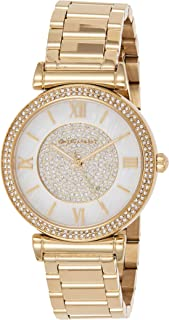 Michael Kors Women's Catlin Gold-Tone Watch Mk3332, Analog Display