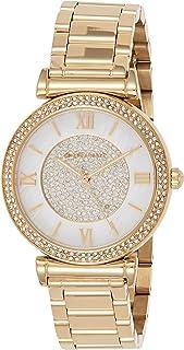 ساعة كاتلين بلون ذهبي وعرض انالوج للنساء من مايكل كورس، موديل Mk3332