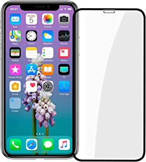 iPhone X Screen Protector, [Easy Install] 3D Curved Anti-Bubble Ultra HD Tempered Glass Case Friendly Screen Protector for...