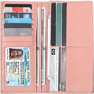 Women's RFID Leather Wallet– Slim Italian Leather Clutch Ladies Purse