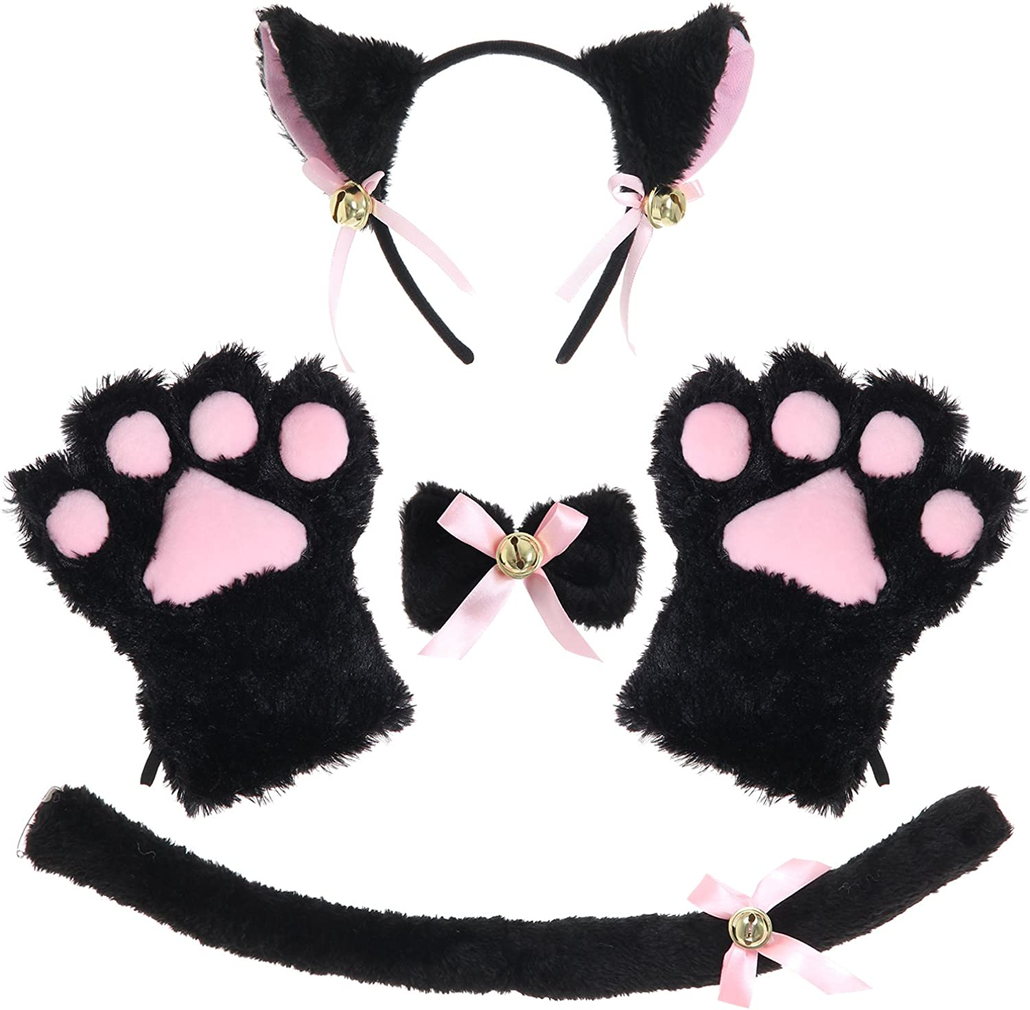 JustinCostume Very popular! Cat Cosplay Set Ears Tail Collar Paws Large discharge sale