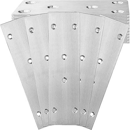 Heavy Duty Straight Metal Brackets Plates Repair Joining Mending Plate Flat Brackets Shelf Bracket CYH 10 Pcs Stainless Steel Straight Bracket Fixing Plate Brackets 76x16mm with Screws