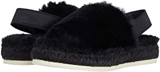Dolce Vita Women's Keya Slipper, Black Faux Fur, 6
