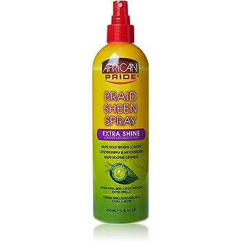 African Pride Braid Sheen Spray Extra Shine 355 ml: Amazon