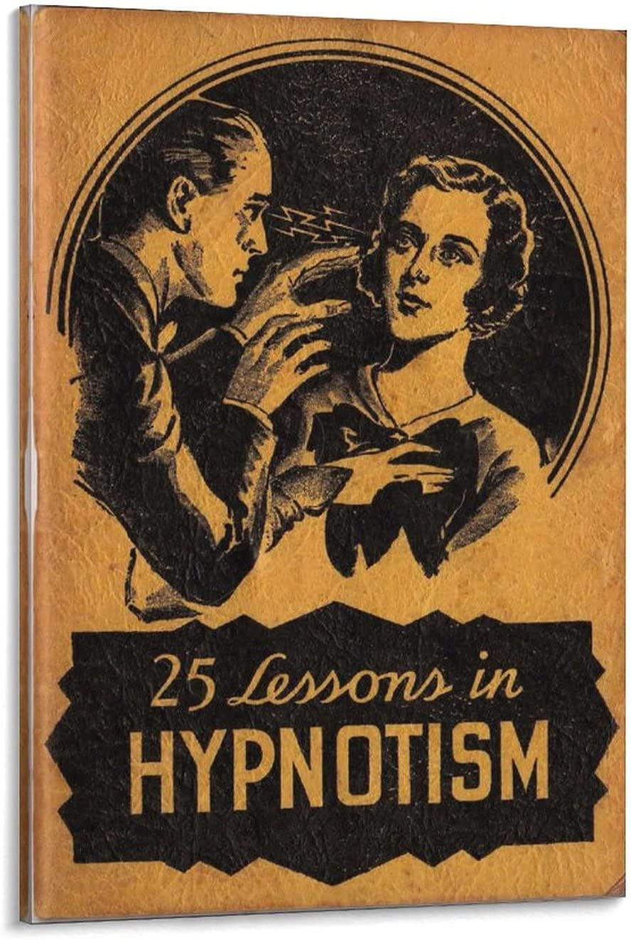 Hypnosis Vintage Movie Large special price Poster Canva W Ranking integrated 1st place Decorative Painting