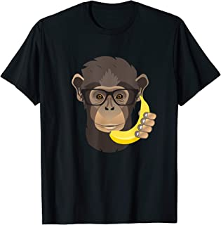 Hipster Monkey with Banana Phone T-Shirt for All Ages