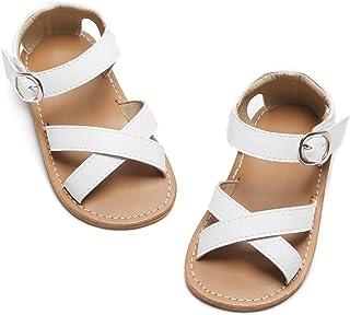 Kiderence Toddler Girl's Sandals Princess Flats Sandals Pink (Toddler/Little Kid)