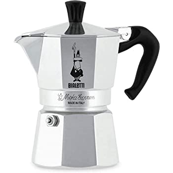 Bialetti Moka Express Stovetop Coffee Maker, 3-Cup, Aluminium