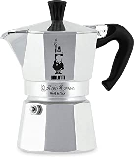 comprar comparacion Bialetti Moka Express Cafetera Italiana Espresso, 3 Tazas, Aluminio, Plateado