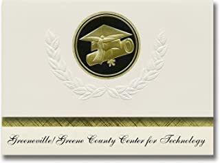 Signature Announcements Greeneville/Greene County Center for Technology Graduation Announcements, Presidential Elite Pack ...