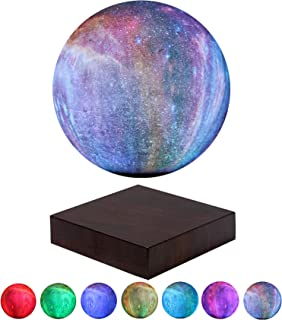 VGAzer Levitating Moon Lamp Floating and Spinning in Air Freely with Gradually Changing LED Lights Between 7 Colors,Decorative Light for Kids Lover Friends (Square Base)