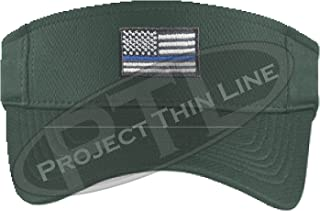 Embroidered Thin Blue Line Subdued American Flag Police Law Enforcement Sun  Visor 585f72b7de57