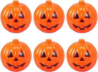 LUOEM 6pcs Halloween Pumpkin Candy Box Mini Package Treat Container Gift Boxes (Orange)
