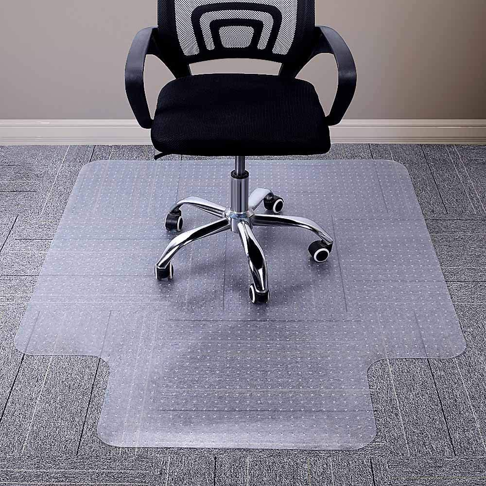 AiBOB Chair Mat for Low Pile Carpet Floors, Flat Without Curling, 48 X 36 inches Office Carpeted Floor Mats for Computer Desk : Office Products