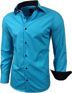 Amazon.es: Turquesa - Camisas casual / Camisetas, polos y camisas: Ropa