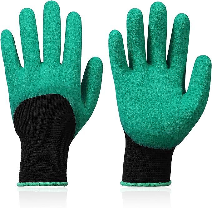 Work Gloves - Latex Coated Work Gloves for Men Durable Men's Work Gloves Breathable Gardening Gloves