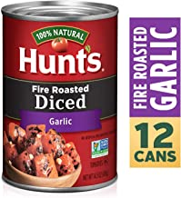 Hunt's Fire Roasted Diced Tomatoes with Garlic, Keto Friendly, 14.5 oz, 12 Pack