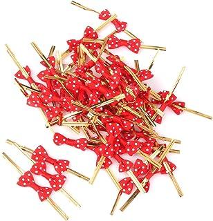 de Oro KANGIRU Papel de Regalo de Alambre met/álico Torsi/ón Lazos Bolsa de pl/ástico Selladores para Candy Galletas del Pan de la Jalea del Chocolate Bolsas de 10 cm