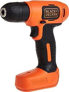 Black+Decker 7.2V Li-Ion Cordless Electric Compact Drill Driver for Screwdriving & Fastening, Orange/Black - BDCD8-B5