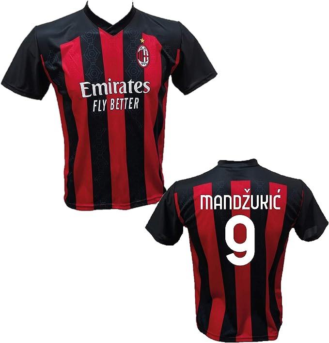 Maglia Calcio Home Mario Mandzukic 9 A.C. Milan Replica ...