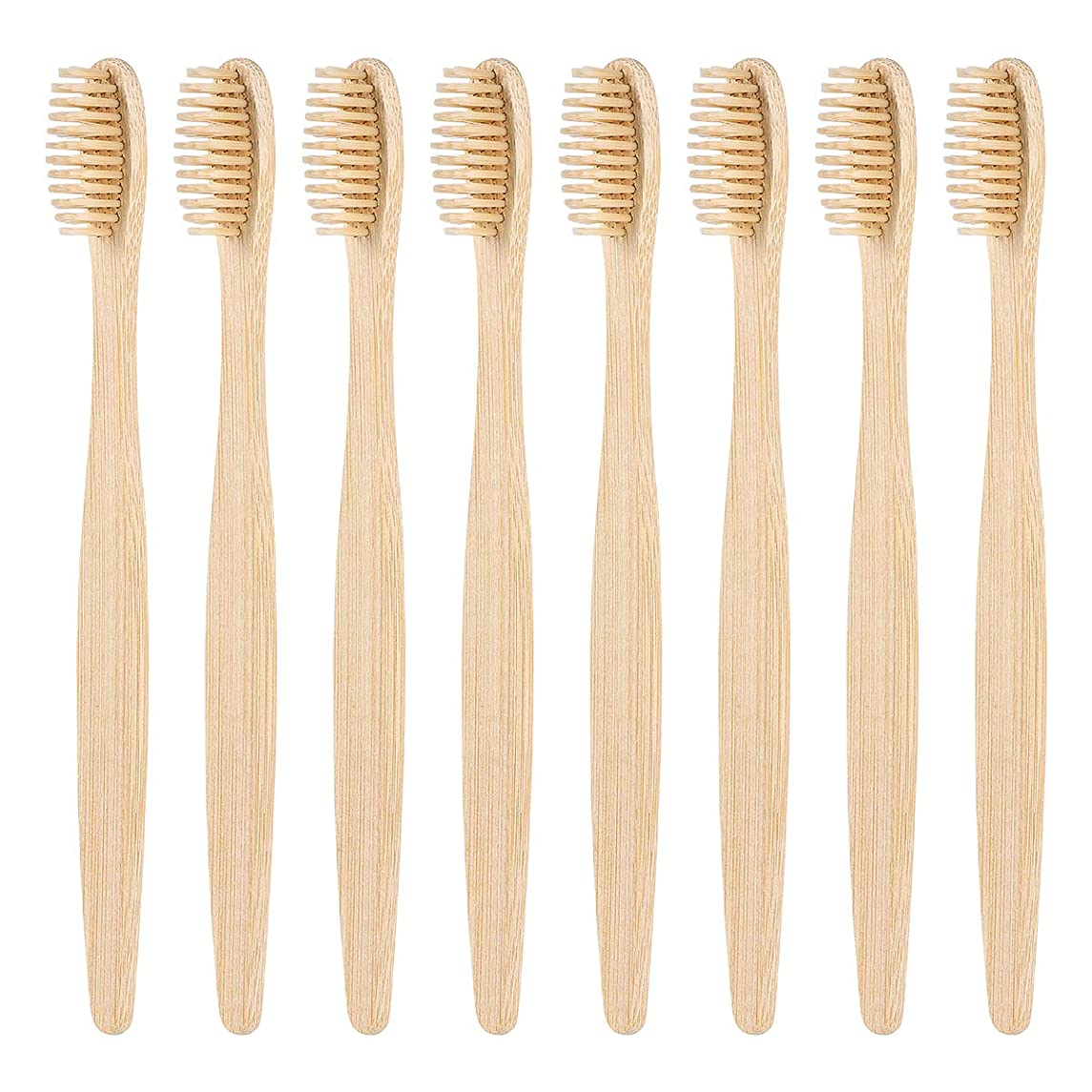 グラフィック遷移ラボSUPVOX 柔らかい剛毛が付いているタケ歯ブラシの自然な木の環境に優しい手動歯ブラシ8個
