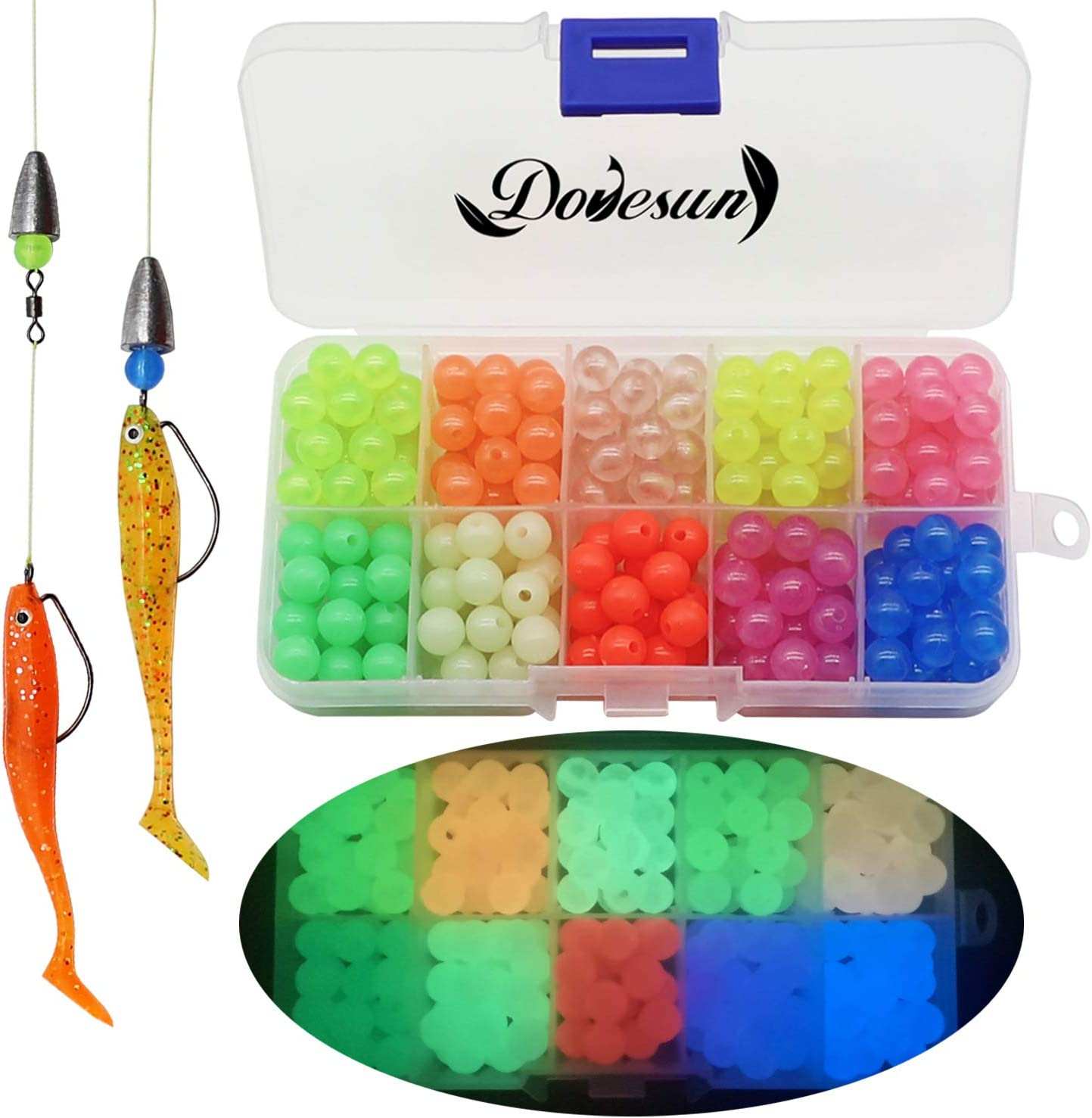 Dovesun Fishing Beads Assorted 10 Cheap mail order specialty store Colors Eggs Bait Phoenix Mall