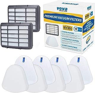 VEVA Complete Premium Vacuum Filter Set Including 2 HEPA, 4 Foam, 4 Felt Filters 10 Pieces Total for Shark Navigator Lift Away Model NV350, 351, 352, 355, 356, 357, 358, 360, 370, 391, UV440, 490, 540