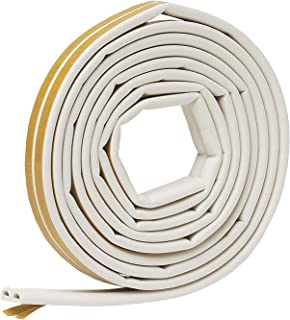 Frost King V25WA D-Section Rubber Self-Stick Weatherseal Tape, 5/16