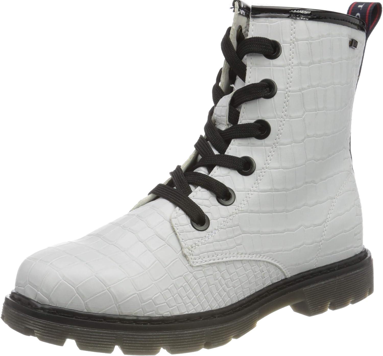 TOM TAILOR Girl's 9071613 Mid Calf Boot, White, 8 us
