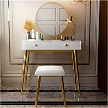 Makeup Desk with Drawers for Bedroom 2 in 1 Makeup Vanity Desk Simple Makeup Table Dressing Table Table and Chair Combinat...