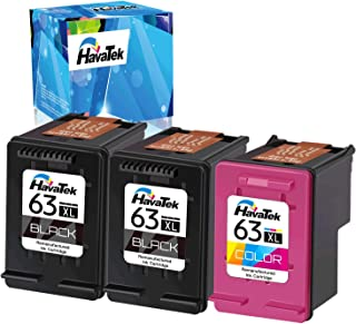 $52 » HavaTek Remanufactured Ink Cartridge Replacement for HP 63 63XL Used for HP OfficeJet 3830 4650 5255 5258 Envy 4520 4512 D...