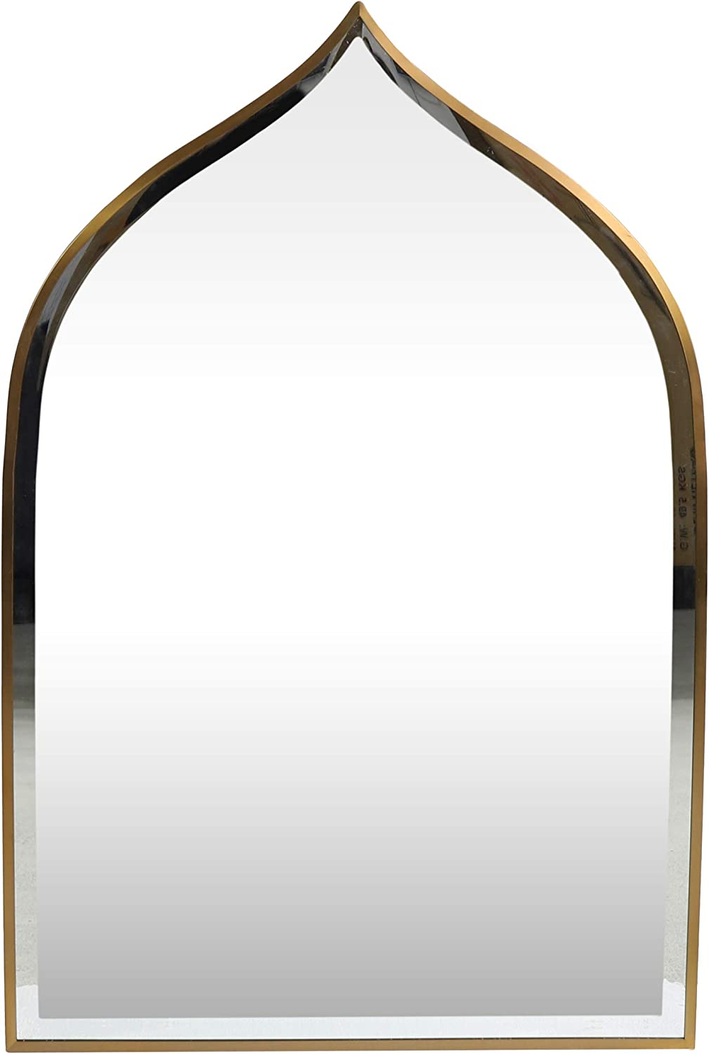 Lucine Contemporary Bell Washington Mall Shaped Brass Wall Sales Mirror Brushed