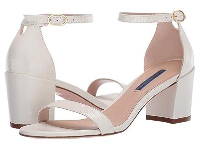 Stuart Weitzman Simple City Sandal (Cream Caviar Patent) High Heels