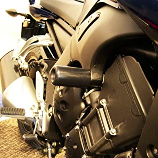 Shogun Yamaha FZ1 Black No Cut Frame Sliders 2006 2007 2008 2009 2010 2011 2012 2013 2014 2015-750-6809 - MADE IN THE USA