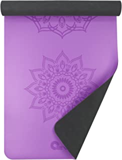 3mm Yoga Mandala Mat with Rubber Base and Vegan Leather Face (3 Colors)