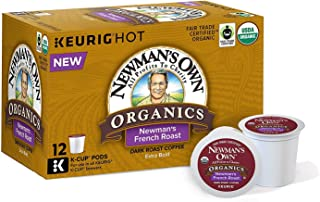 Newman's Own Organics French Roast, Single-Serve Keurig K-Cup Pods, Dark Roast Coffee, 72 Count